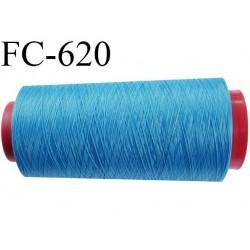 Cone de fil mousse 2000 mètres polyamide fil n° 100/2 couleur bleu longueur 2000 mètres bobiné en  France