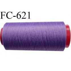 Cone de fil mousse 2000 mètres polyamide fil n° 100/2 couleur violet longueur 2000 mètres bobiné en  France