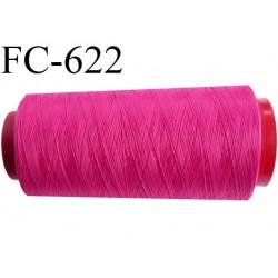 Cone de fil mousse 5000 mètres polyamide fil n° 100/2 couleur fushia longueur 5000 mètres bobiné en  France