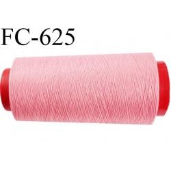 Cone de fil mousse 1000 mètres polyamide fil n° 100/2 couleur rose longueur 1000 mètres bobiné en  France