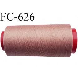 Cone de fil mousse 5000 mètres polyamide fil n° 100/2 couleur bronze  clair ou bois rosé longueur 5000 mètres bobiné en  France