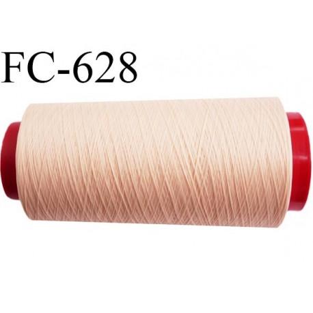 Cone de fil mousse 2000 mètres polyamide fil n° 100/2 couleur perle rosé longueur 2000 mètres bobiné en  France