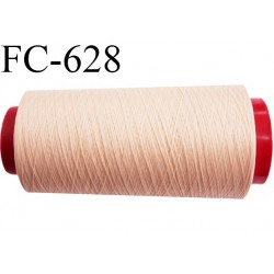 Cone de fil mousse 5000 mètres polyamide fil n° 100/2 couleur perle rosé longueur 5000 mètres bobiné en  France