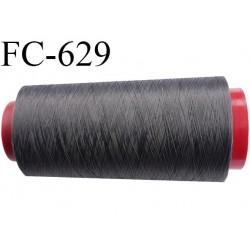 Cone de fil mousse 2000 mètres polyamide fil n° 100/2 couleur anthracite longueur 2000 mètres bobiné en  France