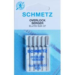 Aiguille schmetz Overlock Seger EL X 705 SUK CF de 65/9  la boite de 5 aiguilles