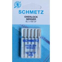 Aiguille schmetz Overlock Seger EL X 705 CF de 65/9  la boite de 5 aiguilles