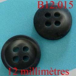 bouton 12 mm   couleur gris et anthracite marbré mat 4 trous diamètre 12 millimètres
