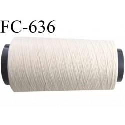 Cone 1000 mètres de fil mousse polyamide fil n°80 couleur naturel longueur 1000 m  bobiné en France