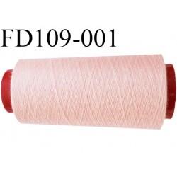 Destockage Cone 2000 m de fil  polyester  fil n° 120 couleur rose clair cone 2000 mètres bobiné en France