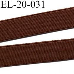 Elastique 20 mm plat très  belle qualité couleur marron semi rigide  forte élasticité largeur 20 mm prix au mètre