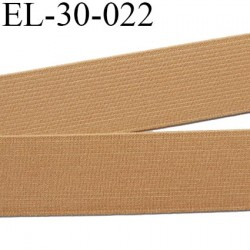 Elastique 30 mm plat très  belle qualité couleur beige ou caramel semi rigide  forte élasticité largeur 30 mm prix au mètre