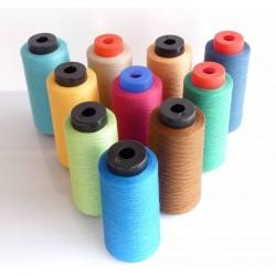 Destockage Cone 1000 m de fil  polyester  fil n° 120 couleur rose cone 1000 mètres bobiné en France