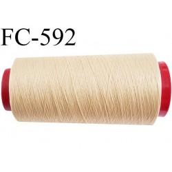 Cone de fil mousse polyamide fil n° 100/2 couleur coquille d'oeuf clair longueur 2000 mètres bobiné en France