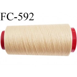 Cone 5000 mètres de fil mousse polyamide fil n° 100/2 couleur coquille d'oeuf clair longueur 5000 mètres bobiné en France