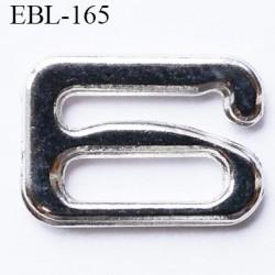 Crochet métal 12 mm chromé brillant largeur intérieur de passage de bretelle 12 mm haut de gamme prix / pièce