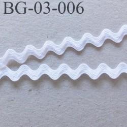 Galon croquet serpentine 3 mm  synthétique couleur blanc largeur 3 mm haut de gamme prix du mètre
