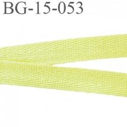 biais galon ruban sergé 15 mm couleur jaune 100%  coton souple et doux largeur 15 mm prix au mètre