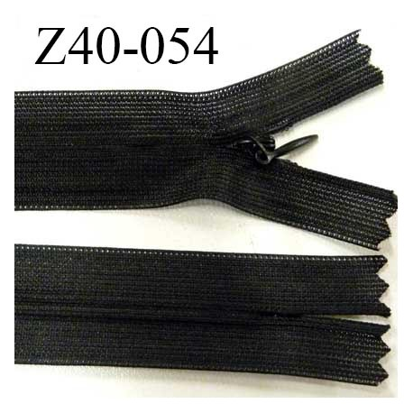 fermeture  40 cm zip invisible longueur 40 cm couleur blanc non séparable zip nylon largeur 2.5 cm