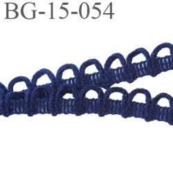 galon coton boutonnière 15 mm  couleur bleu marine largeur 15 mm  prix au mètre
