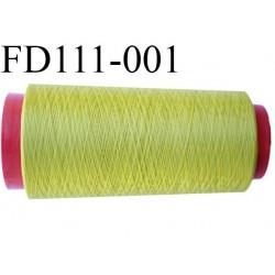 Destockage Cone 2000 m de fil mousse  polyester  fil n° 165 couleur vert tirant sur l'anis longueur 2000 mètres bobiné en France