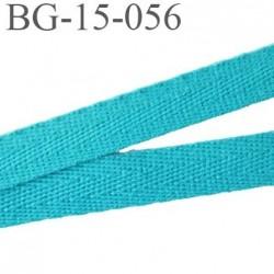 biais galon ruban sergé 15 mm couleur bleu turquoise 100%  coton souple et doux largeur 15 mm prix au mètre