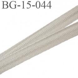 biais sergé 100 % coton superbe souple et doux galon ruban couleur beige kaki largeur 15 mm prix au mètre