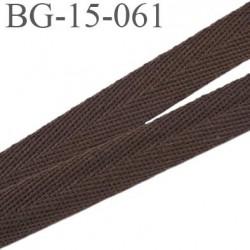 biais sergé 15 mm 100 % coton superbe souple et doux galon ruban couleur marron largeur 15 mm prix au mètre