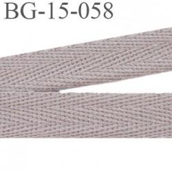 biais galon ruban sergé 15 mm couleur beige rosé 100%  coton souple et doux largeur 15 mm prix au mètre