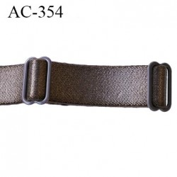 Bretelle 16 mm lingerie SG couleur bronze brillant largeur 16 mm longeur 35 cm plus le réglage prix à la pièce