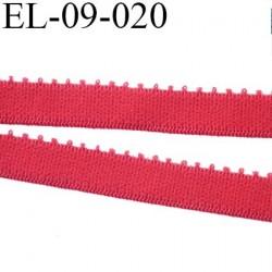 élastique 9 mm culotte ou  lingerie couleur rouge baiser largeur 9 mm haut de gamme prix au mètre