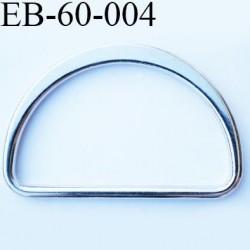 Etrier en métal 60 mm chromé largeur extérieur 67 mm largeur intérieur 60 mm hauteur 45 mm