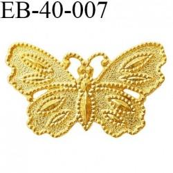 Papillon 40 mm en métal doré couleur or brillant un vrai petit bijoux  largeur 40 mm hauteur 24 mm