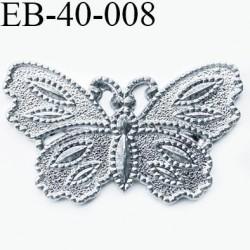 Papillon 40 mm en métal couleur acier brillant un vrai petit bijoux  largeur 40 mm hauteur 24 mm