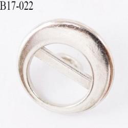 Bouton en métal 17 mm  couleur chromé diamètre 17 mm accroche avec un anneau au dos