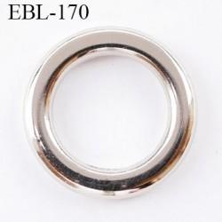 anneau de réglage 15 mm pour lingerie couleur chromé   diamètre intérieur 15 mm largeur diamètre extérieur 23 mm épaisseur 3 mm