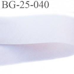 Biais à plier 25 mm couleur chair beige rosé très très clair largeur 25 mm prix au mètre