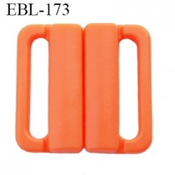 boucle clip 20 mm attache réglette pvc spécial maillot de bain couleur orange saumoné  largeur intérieur 20 mm  haut de gamme