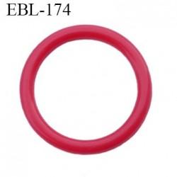 anneau de réglage 15 mm en pvc couleur rouge  diamètre intérieur 15 mm  diamètre extérieur 19 mm épaisseur 2 mm