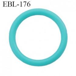 anneau de réglage 15 mm en pvc couleur vert lagon  diamètre intérieur 15 mm  diamètre extérieur 19 mm épaisseur 2 mm