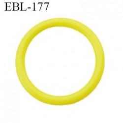 anneau de réglage 15 mm en pvc couleur jaune vert anis  diamètre intérieur 15 mm  diamètre extérieur 19 mm épaisseur 2 mm