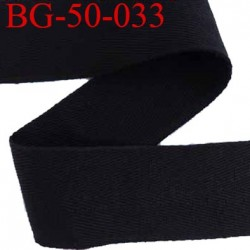 Bais sergé 50 mm galon ruban ganse couleur noir largeur 50 mm prix au mètre