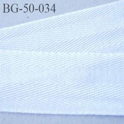 Biais sergé 50 mm galon ruban ganse couleur blanc largeur 50 mm prix au mètre