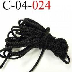 cordon 4 mm synthétique polypropylène très très solide couleur noir diamètre 4 mm  prix au mètre