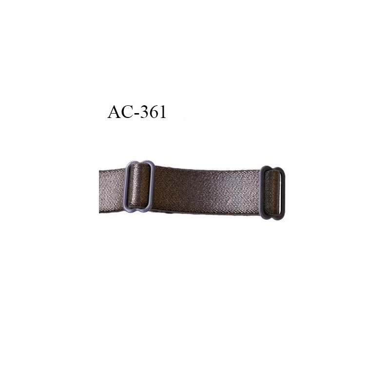 Vente chaussures exclusives différents types de Bretelle 20 mm lingerie SG couleur bronze muscade très haut de gamme  largeur 20 mm longueur 31 cm plus réglage prix à la pièce - mercerie-extra