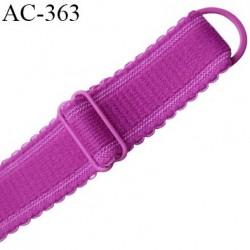 bretelle 20 mm lingerie SG couleur violet pivoine largeur 20 mm longeur 30 cm plus le réglage très haut de gamme prix à la pièce