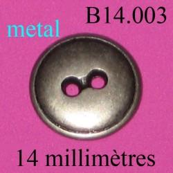 bouton 14 mm   en métal 2 trous diamètre 14 millimètres