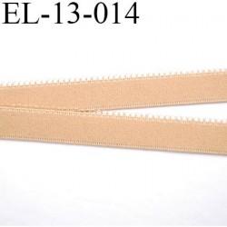 Elastique 13 mm picot  couleur chair  largeur 13 mm prix au mètre