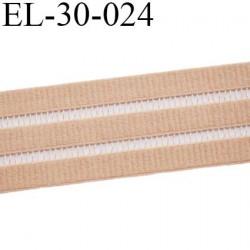 Elastique 30 mm plat belle qualité couleur chair très doux  bonne élasticité  largeur 30 mm prix au mètre