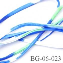 Cache Armature et baleine 6 mm underwire casing galon couleur bleu blanc vert lycra extensible diamètre 6 mm  haut de gamme