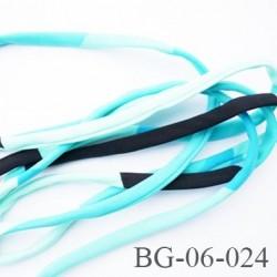 Cache Armature et baleine 6 mm underwire casing galon couleur bleu noir vert lycra extensible diamètre 6 mm  haut de gamme